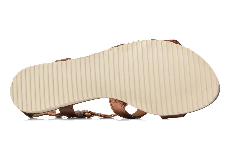Sandales et nu-pieds Divine Factory Acrux Or et bronze vue haut