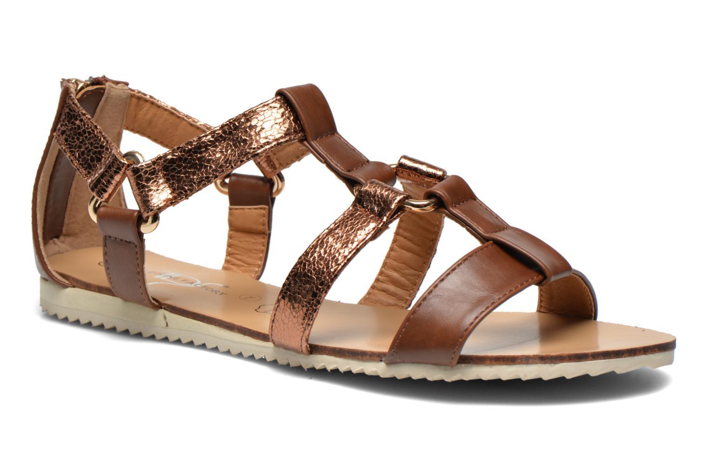 Sandales et nu-pieds Divine Factory Acrux Or et bronze vue détail/paire