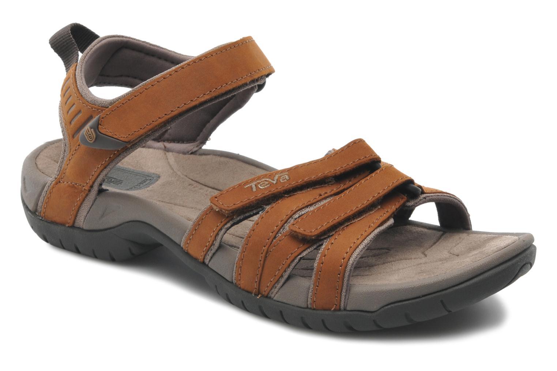 Teva Tirra Sandale En Cuir Pour Les Femmes - Brown 6Cd1RiLAZ