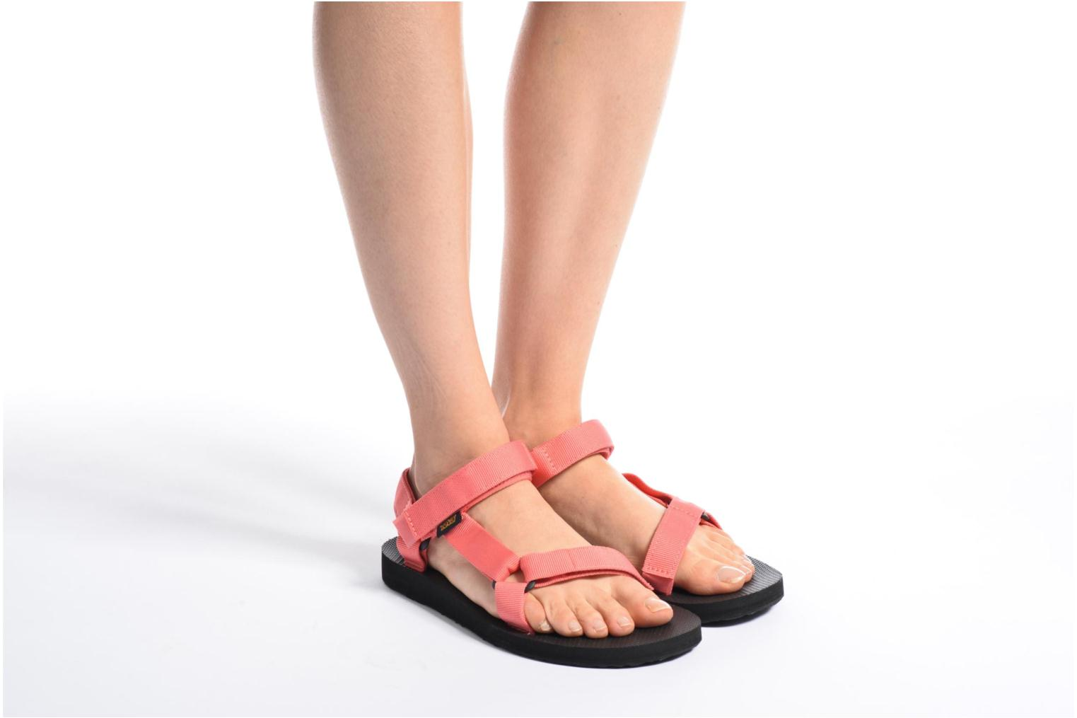 Sandals Teva Original universal W Pink view from underneath / model view