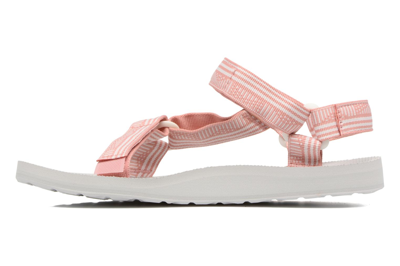 Sandales et nu-pieds Teva Original universal W Rose vue face