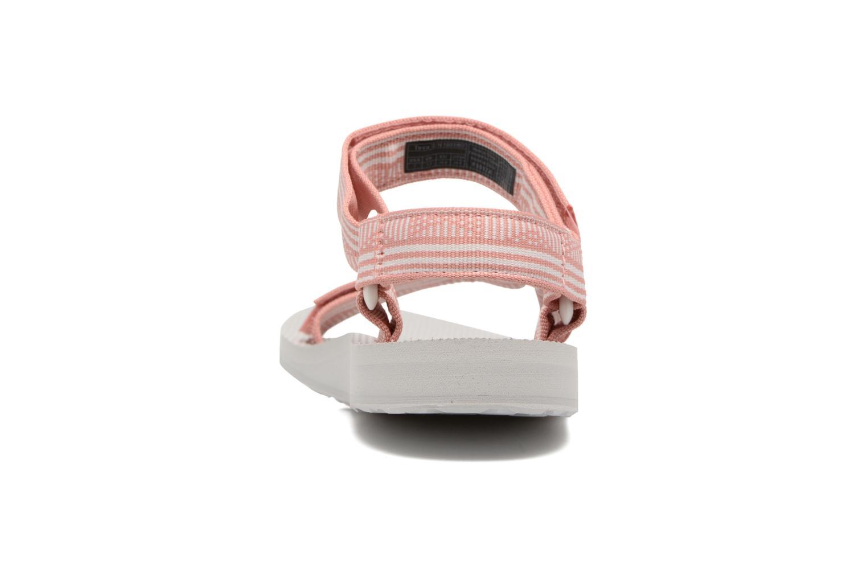 Sandales et nu-pieds Teva Original universal W Rose vue droite