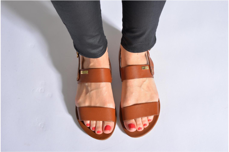 Sandalen Les Tropéziennes par M Belarbi Biniou braun ansicht von unten / tasche getragen