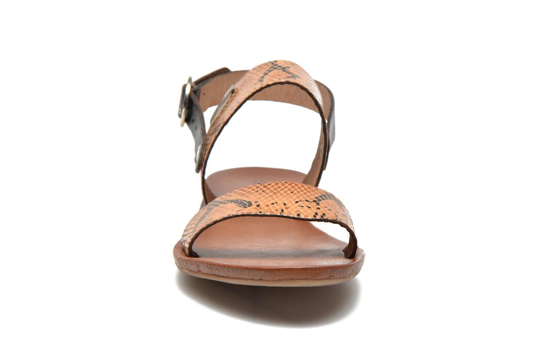 Sandalen Les Tropéziennes par M Belarbi Biniou braun schuhe getragen