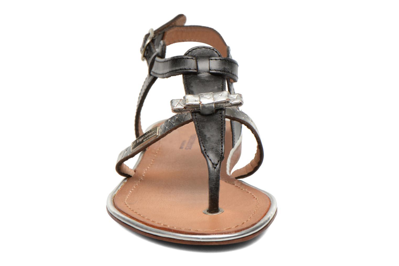 Sandales et nu-pieds Les Tropéziennes par M Belarbi Bantou Noir vue portées chaussures