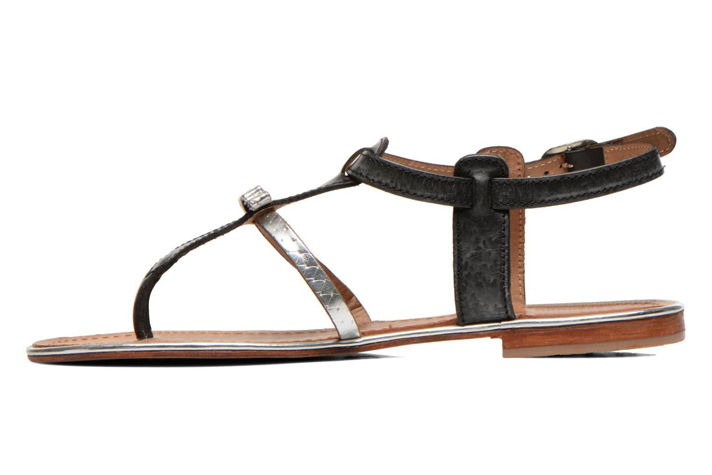 Sandalen Les Tropéziennes par M Belarbi Bantou schwarz ansicht von vorne