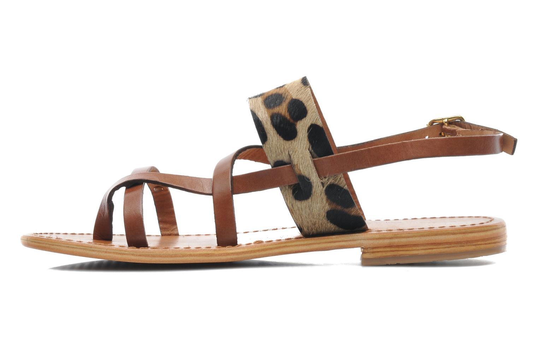 Sandals Les Tropéziennes par M Belarbi Baule Brown front view