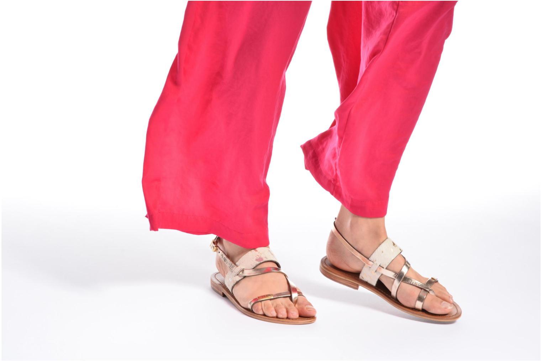 Sandales et nu-pieds Les Tropéziennes par M Belarbi Baule Multicolore vue bas / vue portée sac