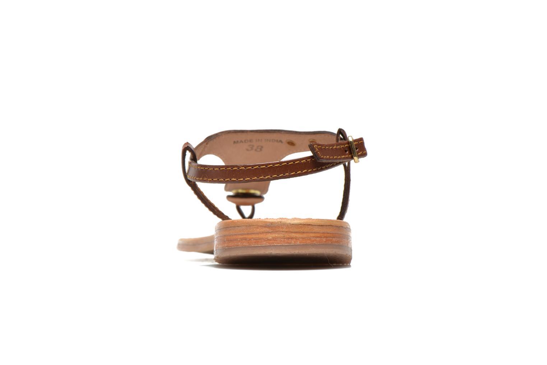 Sandales et nu-pieds Les Tropéziennes par M Belarbi Brownie Marron vue droite