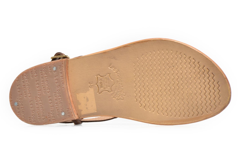 Sandales et nu-pieds Les Tropéziennes par M Belarbi Brownie Marron vue haut
