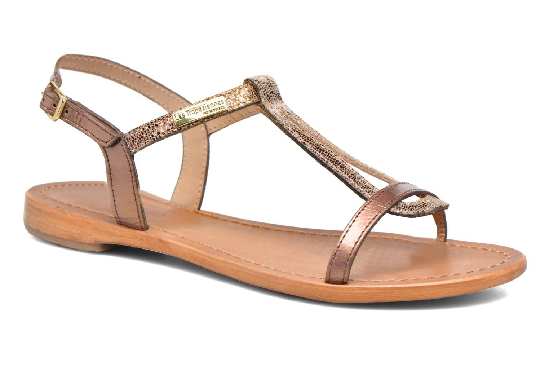 Sandals Les Tropéziennes par M Belarbi Hamat Bronze and Gold detailed view/  Pair view