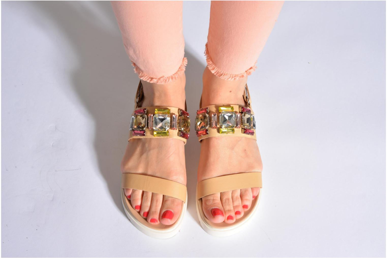 Sandales et nu-pieds Eden Pivoine Noir vue bas / vue portée sac