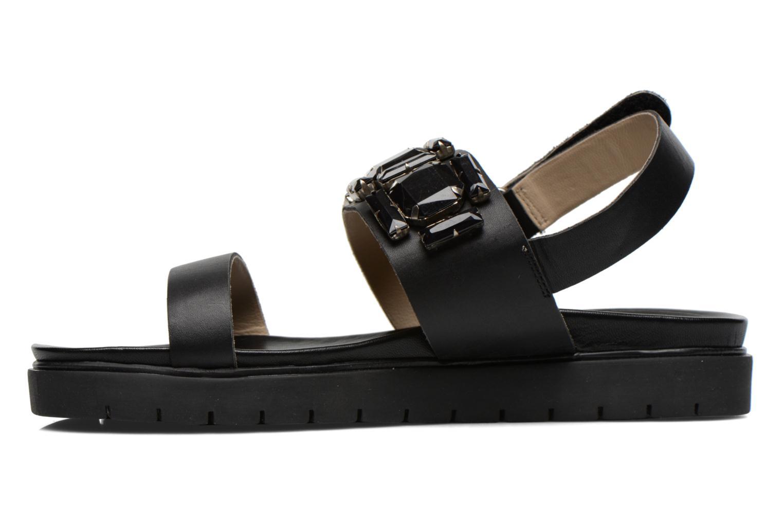 Sandales et nu-pieds Eden Pivoine Noir vue face