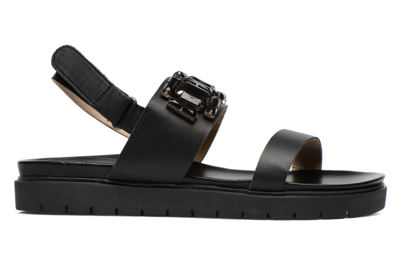 Sandales et nu-pieds Eden Pivoine Noir vue derrière