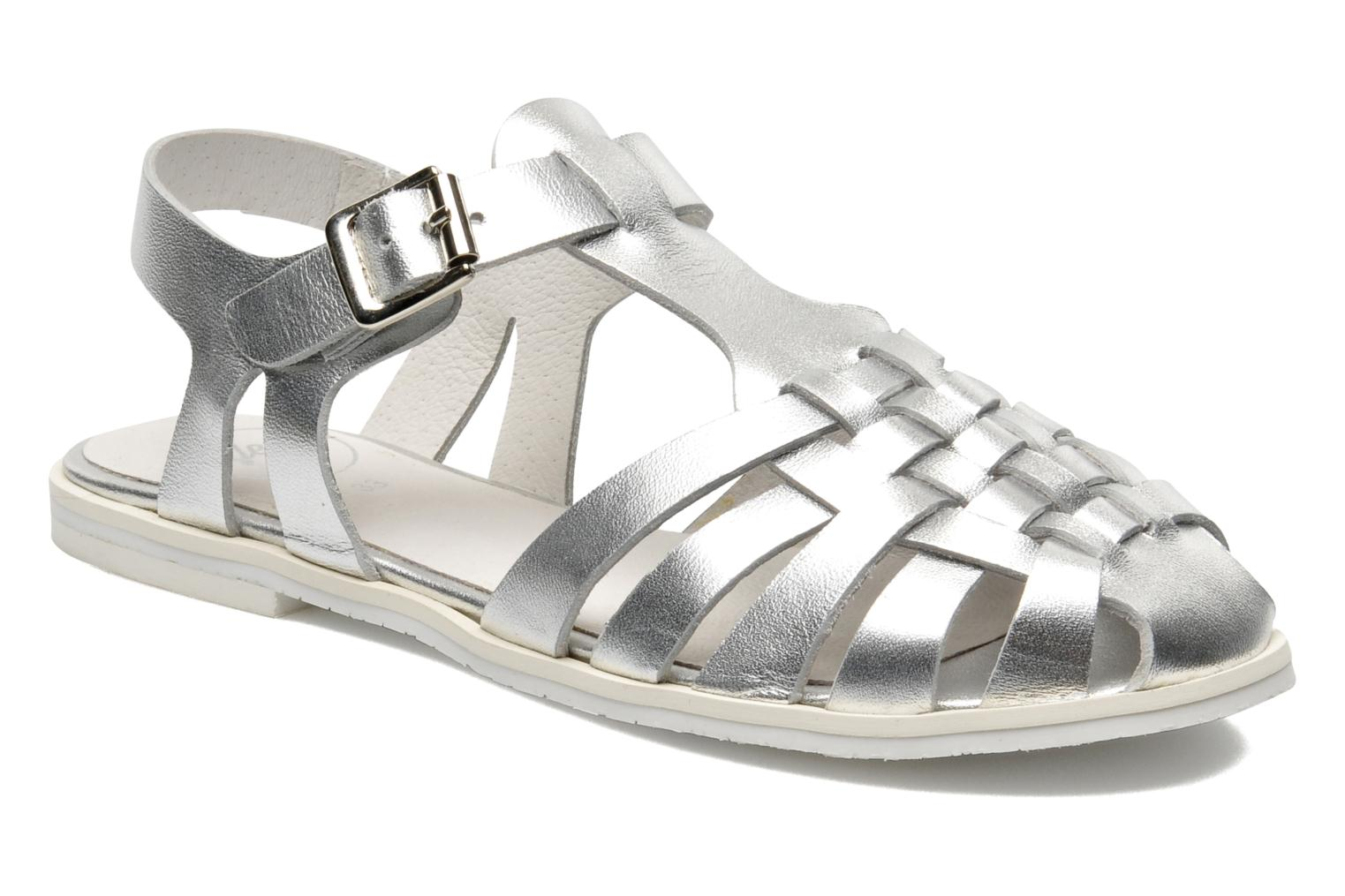 Sandals Yep Bernice Silver detailed view/ Pair view