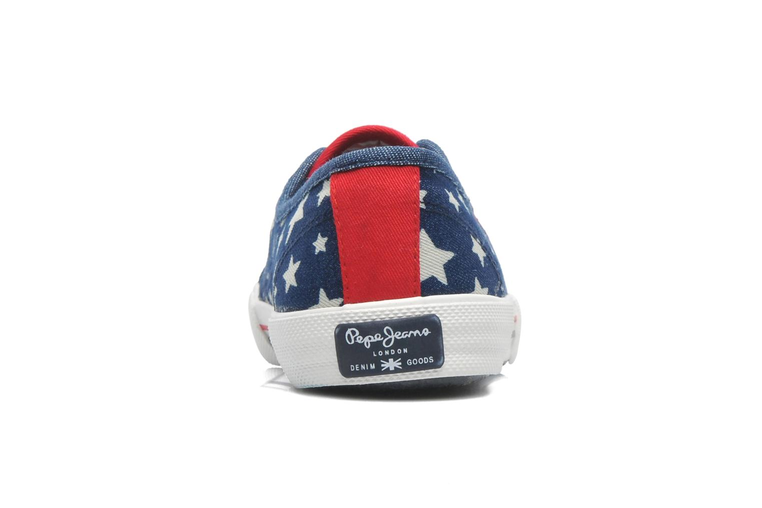 Trainers Pepe jeans Aberlady Jean Star Multicolor view from the right