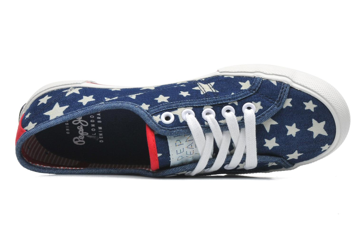 Trainers Pepe jeans Aberlady Jean Star Multicolor view from the left