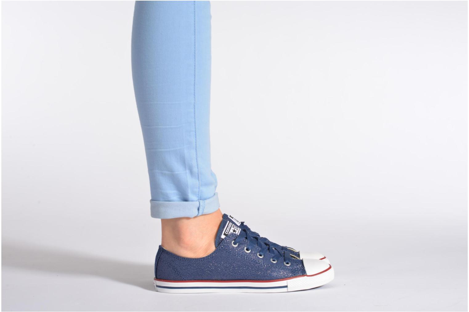 Trainers Converse Dainty Sheer Ox W Blue view from underneath / model view