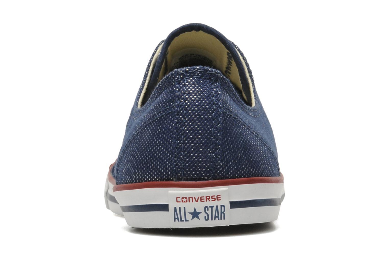 Baskets Converse Dainty Sheer Ox W Bleu vue droite