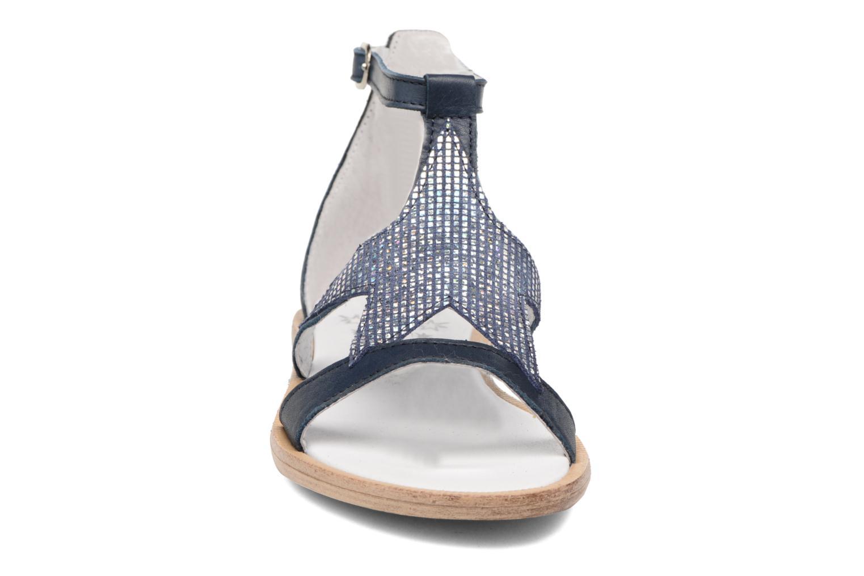 Sandales et nu-pieds Acebo's Constellé Bleu vue portées chaussures