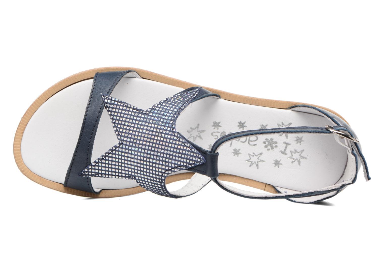 Sandales et nu-pieds Acebo's Constellé Bleu vue gauche