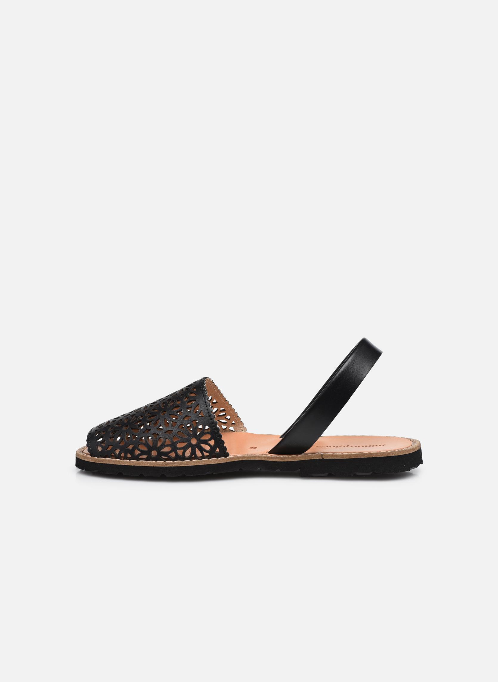 Sandals MINORQUINES Avarca Black front view
