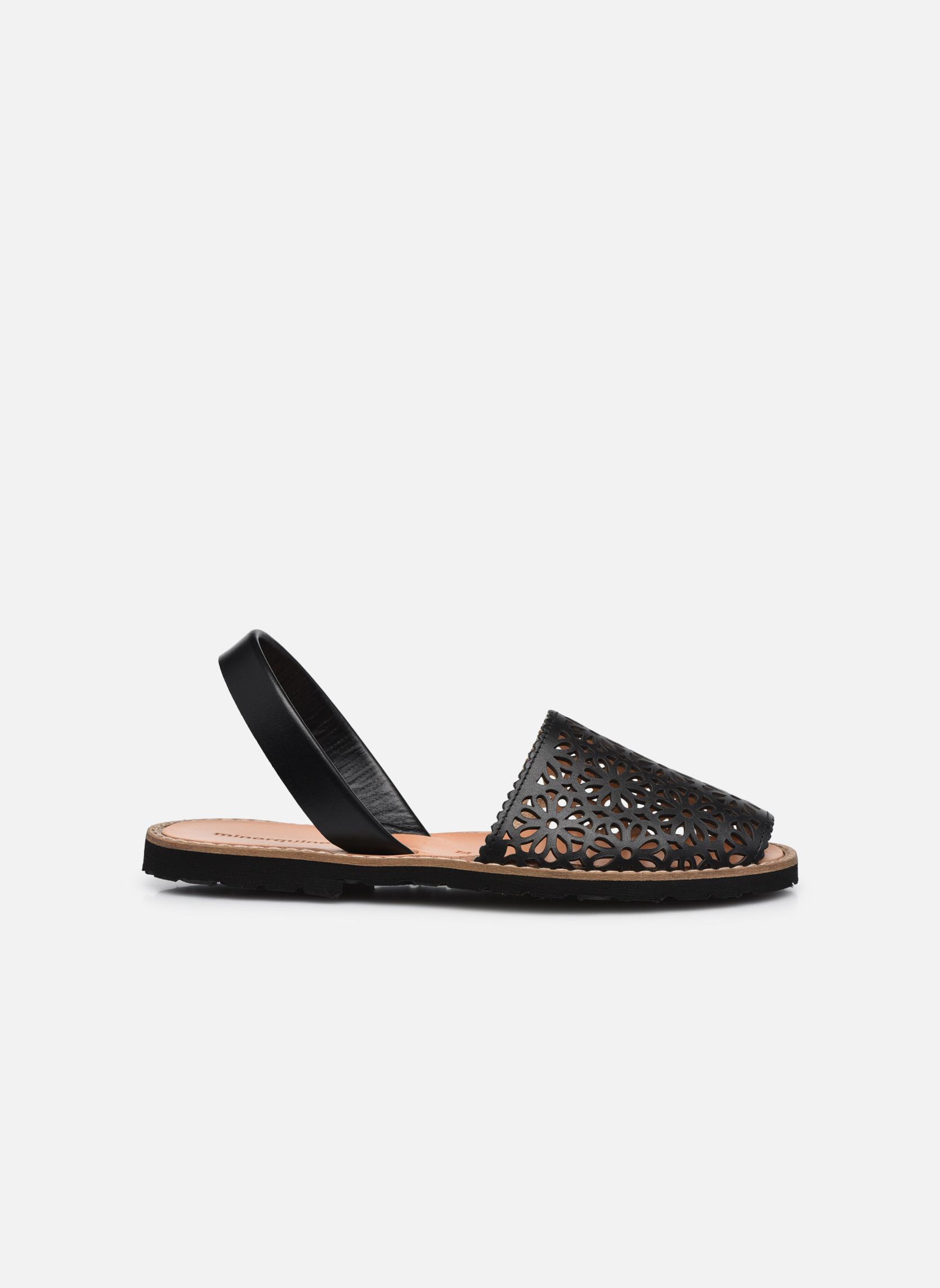 Sandals MINORQUINES Avarca Black back view
