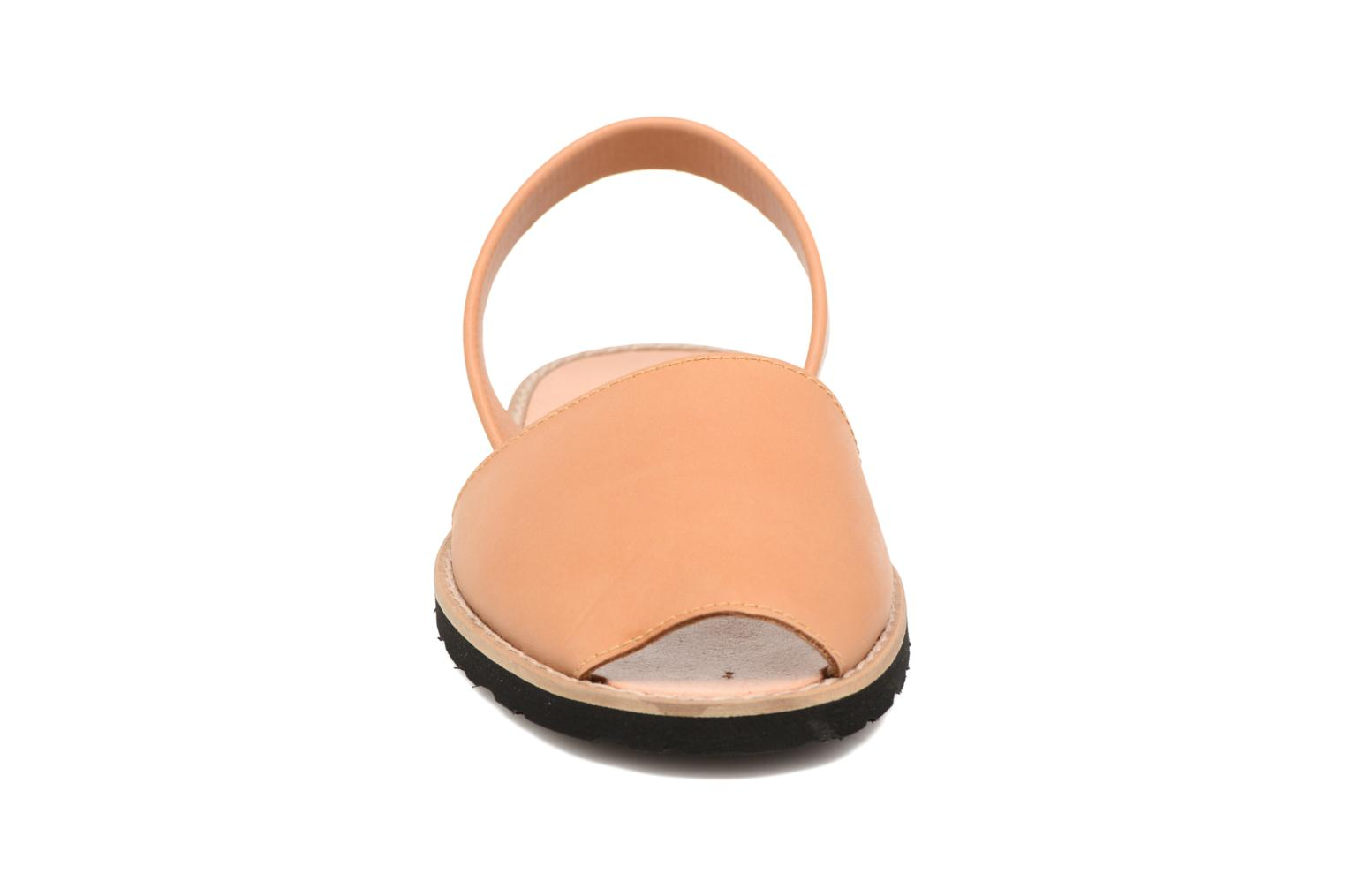 Sandals MINORQUINES Avarca Beige model view
