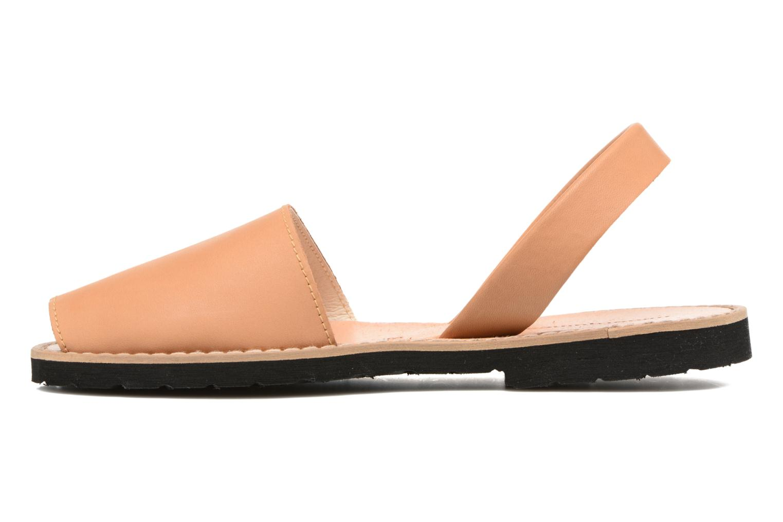 Sandals MINORQUINES Avarca Beige front view