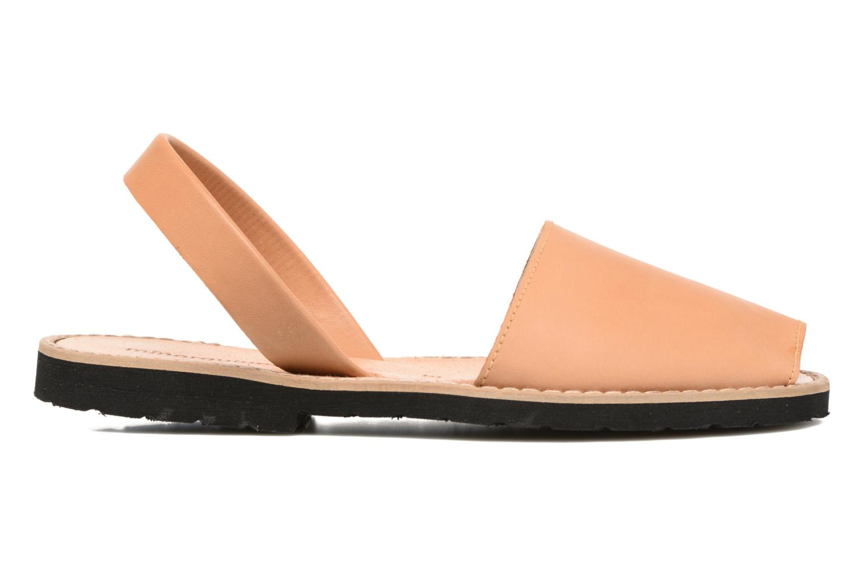 Sandals MINORQUINES Avarca Beige back view