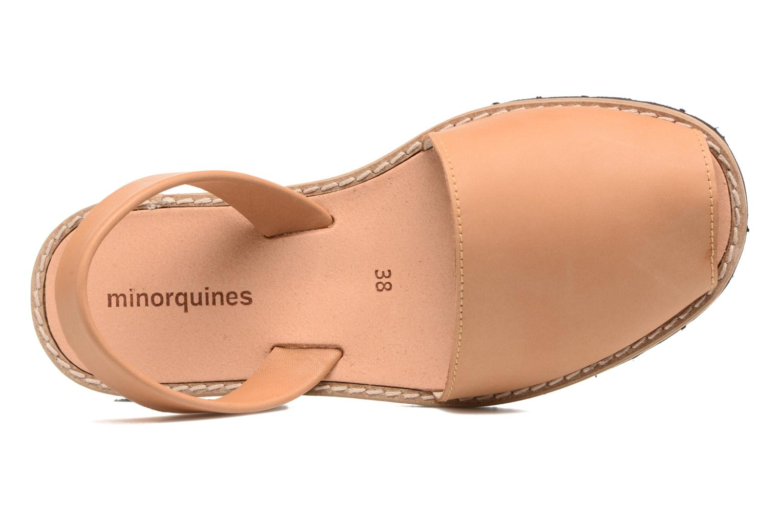 Sandals MINORQUINES Avarca Beige view from the left