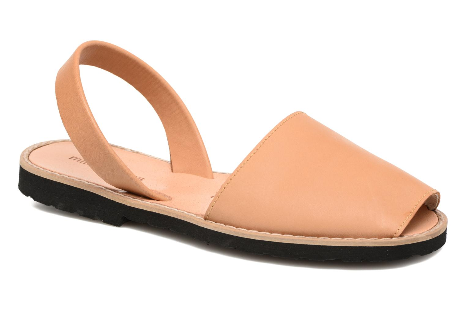 Sandals MINORQUINES Avarca Beige detailed view/ Pair view