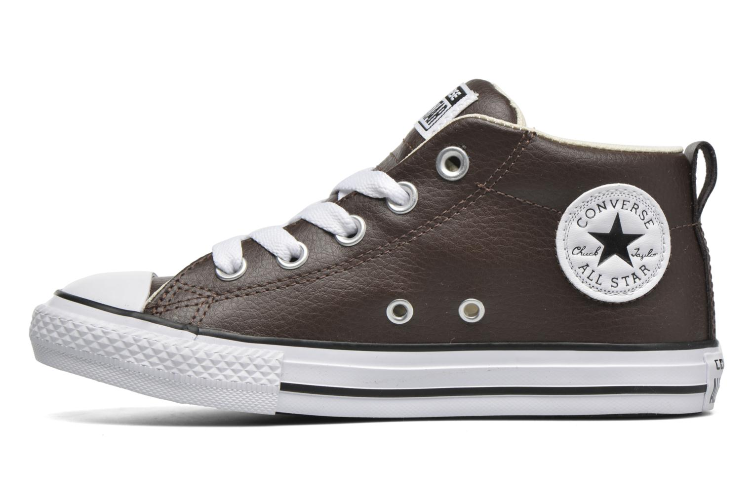 Sneakers Converse Chuck Taylor All Star Street Mid Bruin voorkant