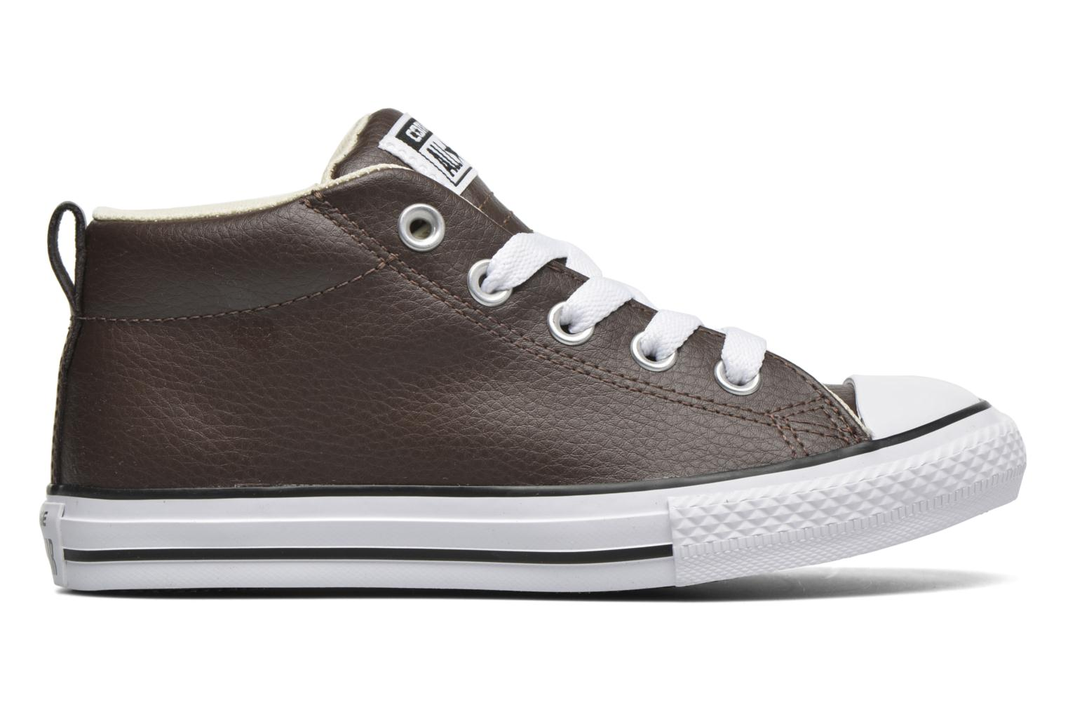 Baskets Converse Chuck Taylor All Star Street Mid Marron vue derrière