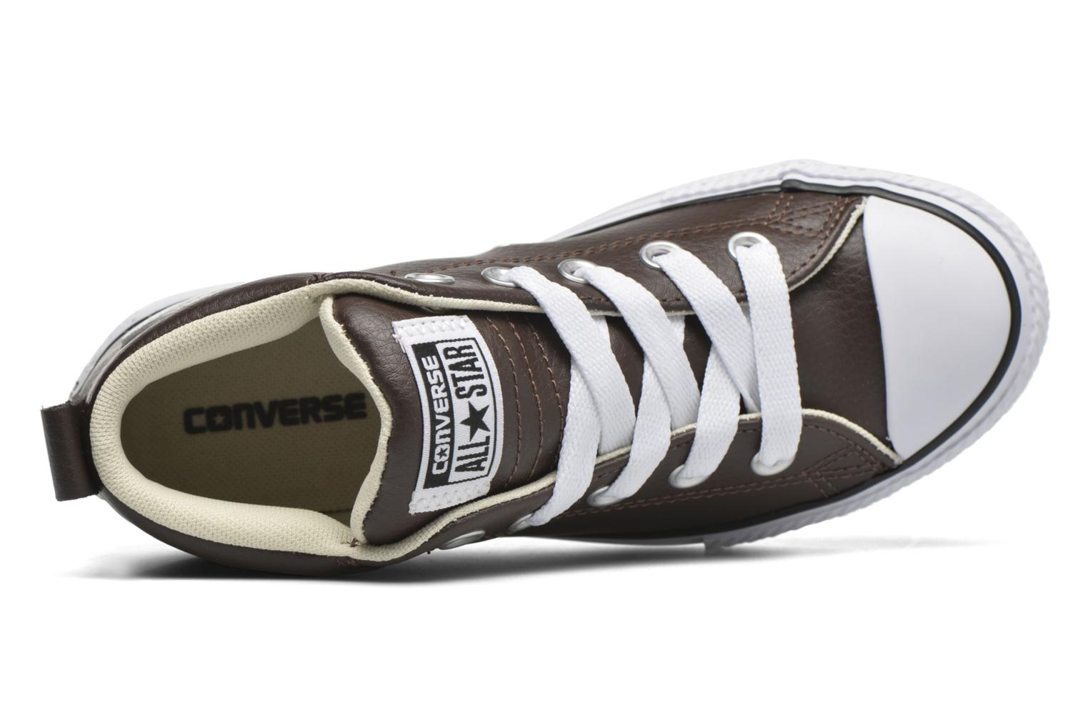 Baskets Converse Chuck Taylor All Star Street Mid Marron vue gauche