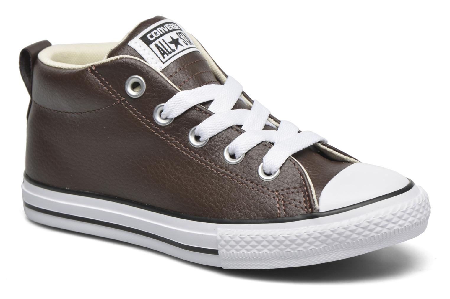 Baskets Converse Chuck Taylor All Star Street Mid Marron vue détail/paire