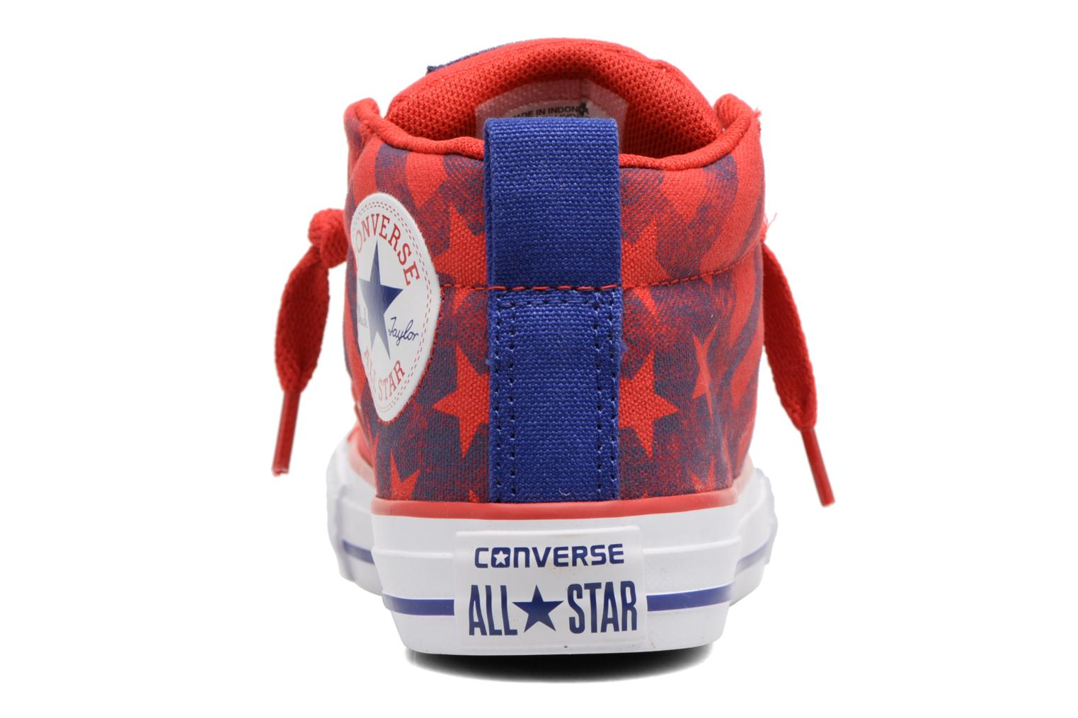 Baskets Converse Chuck Taylor All Star Street Mid Rouge vue droite
