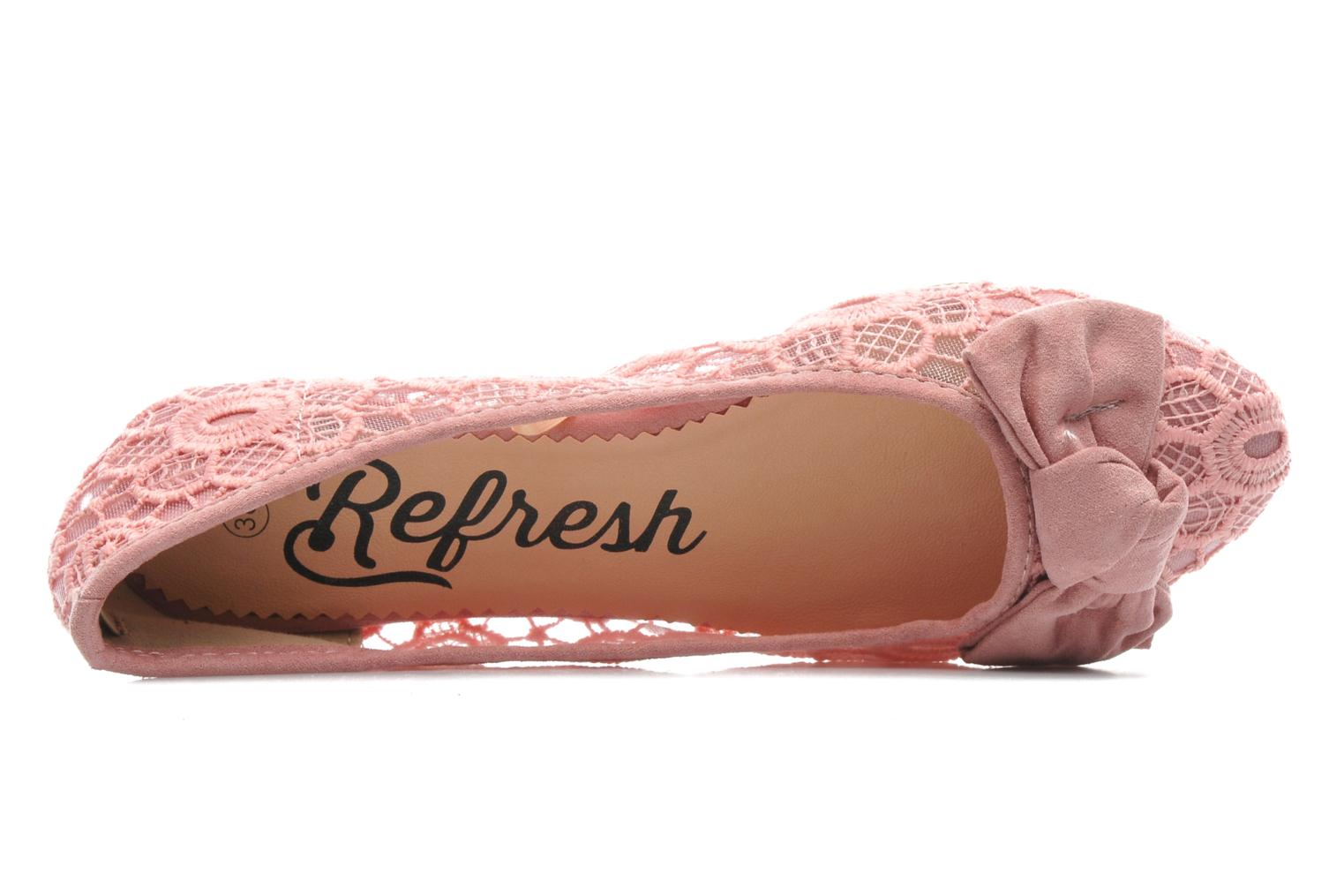 Ballet pumps Refresh Pivoine-60940 Pink view from the left