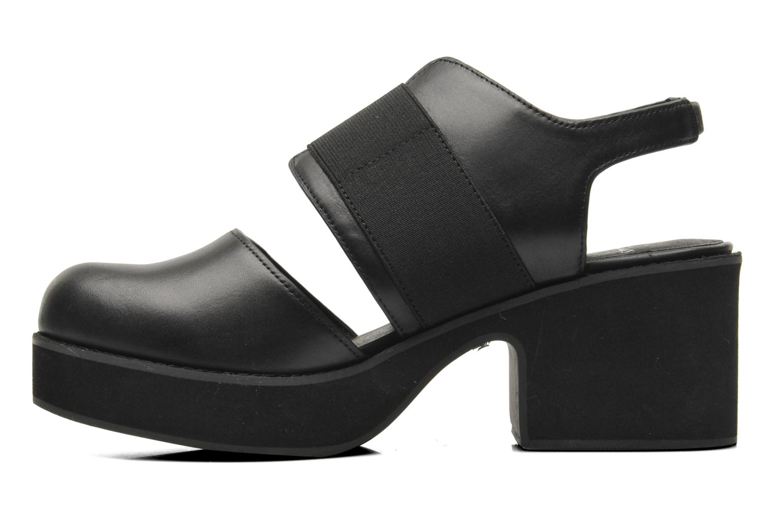 Sandals Shellys London Costain Black front view