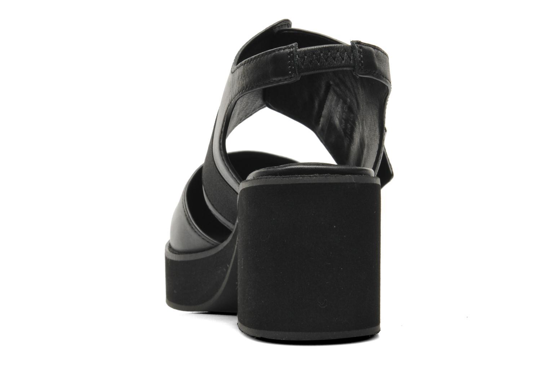 Sandales et nu-pieds Shellys London Costain Noir vue droite