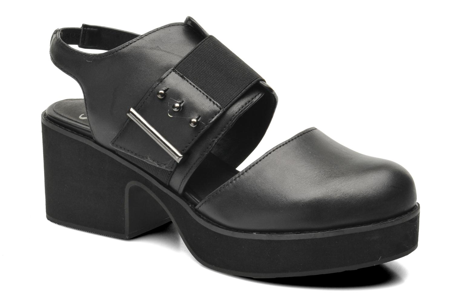 Sandals Shellys London Costain Black detailed view/ Pair view