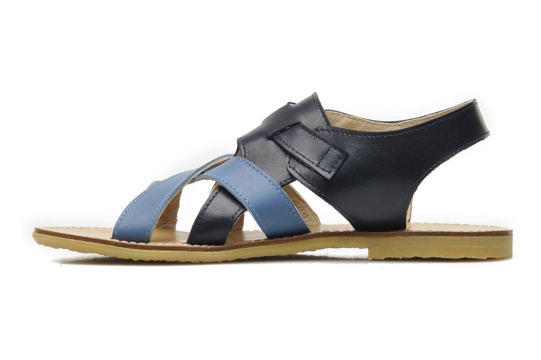 Sandalen Manuela de Juan Ben blau ansicht von vorne