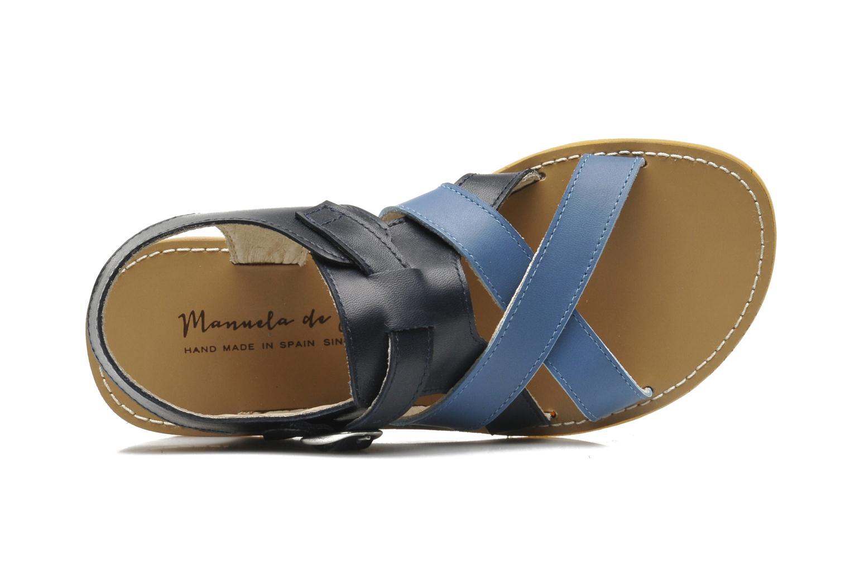 Sandales et nu-pieds Manuela de Juan Ben Bleu vue gauche