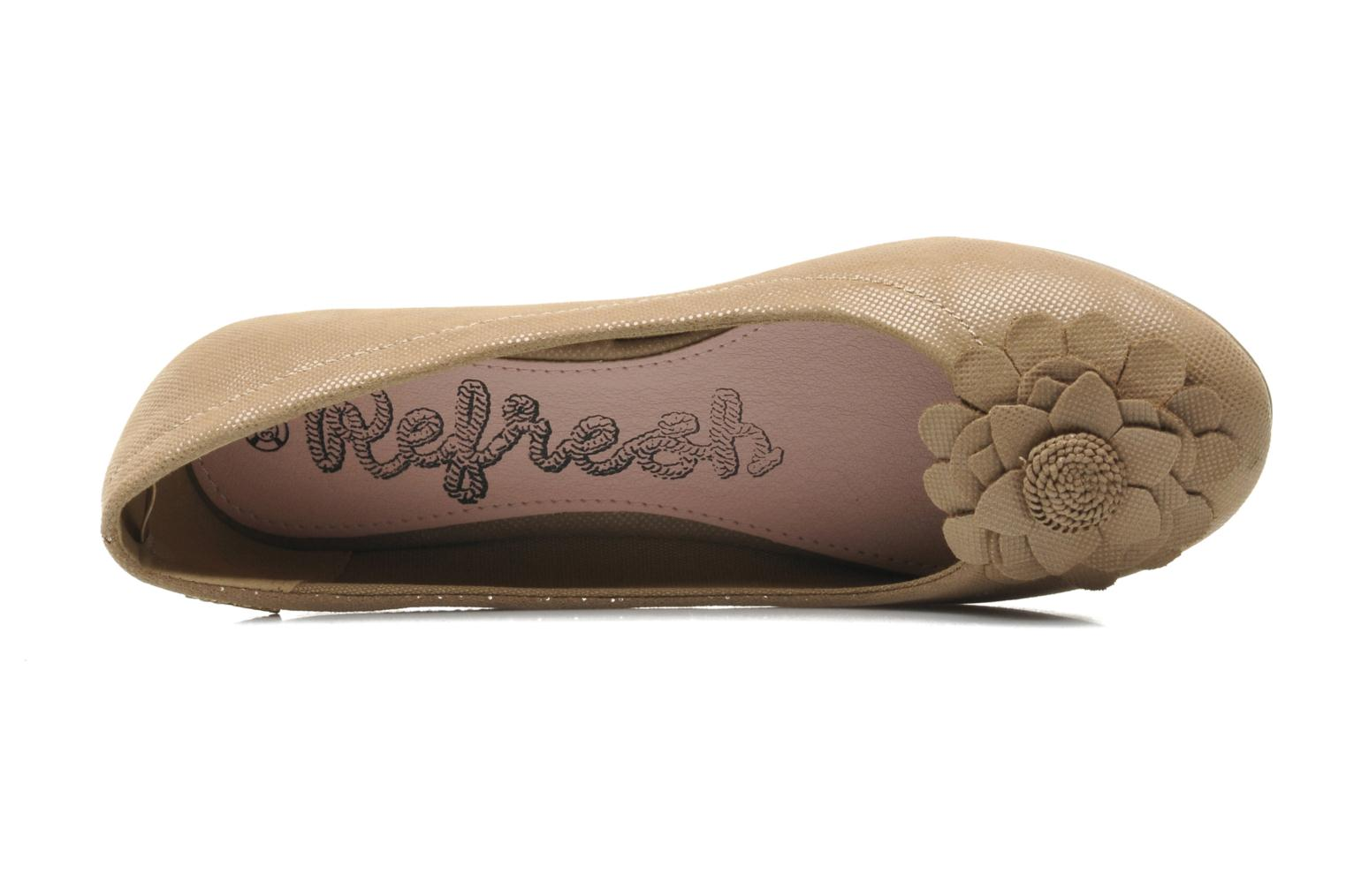 Ballet pumps Refresh Kourwato 2 Beige view from the left
