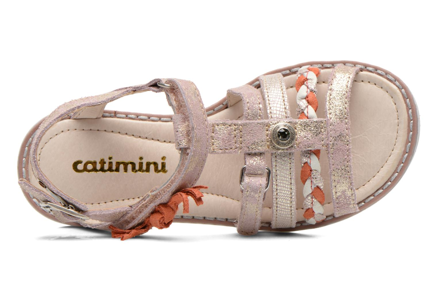 Sandals Catimini Chouette Pink view from the left