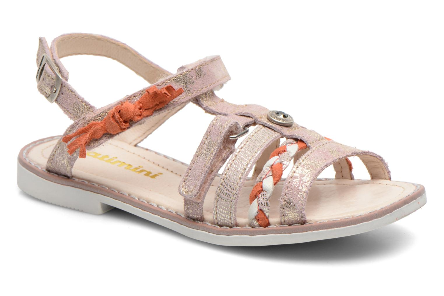 Sandals Catimini Chouette Pink detailed view/ Pair view