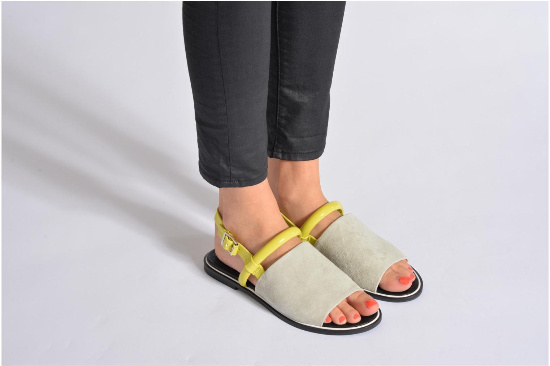 Sandalen Shellys London SALVANT grau ansicht von unten / tasche getragen
