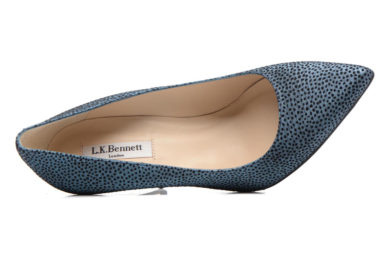 High heels L.K. Bennett Fern Blue view from the left