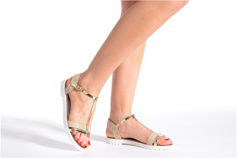 Sandales et nu-pieds Eclipse Sandale Athènes Noir vue bas / vue portée sac