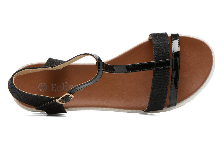 Sandales et nu-pieds Eclipse Sandale Athènes Noir vue gauche